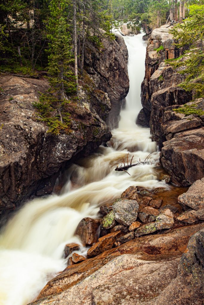 Chasm Falls, Rocky Mountain National Park, Colorado #vezzaniphotography