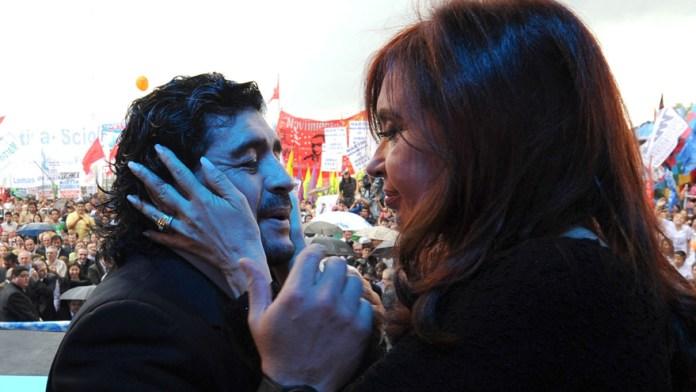 The vice president had a dialogue with Maradona.