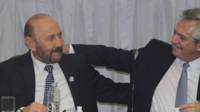 Gildo Insfrán with President Alberto Fernández