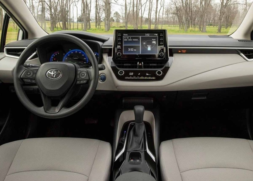 Toyota Corolla, that's how it is on the inside.