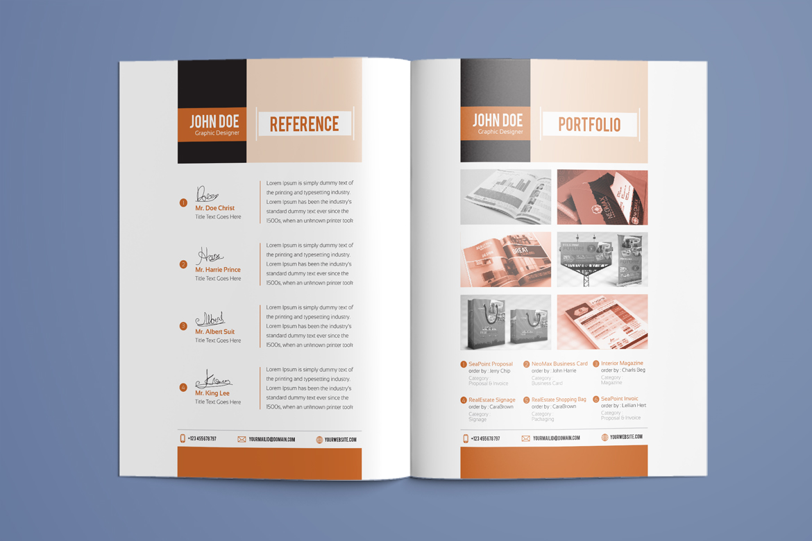 Resume Booklet Modern CV Professional And Creative InDesign Resume Template