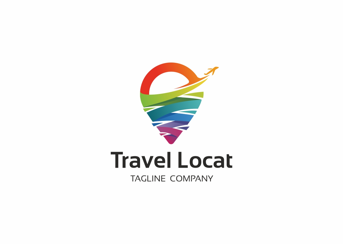Travel Location Colorful Logo Template
