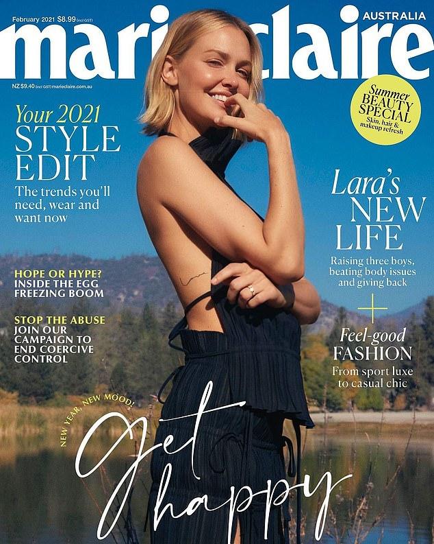 Hermosa: Lara Bingle luce increíble en la portada de la revista Marie Claire