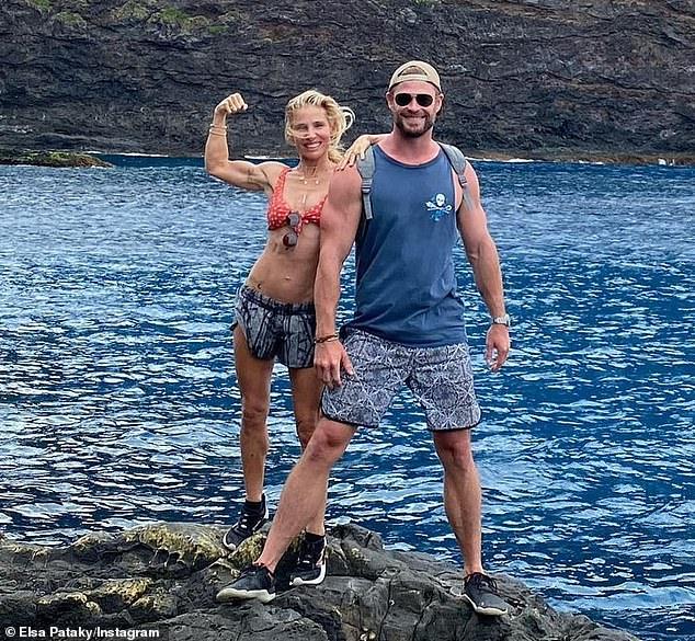 ¡Thor, vaya!  Elsa Pataky, de 44 años, mostró su increíble cuerpo en bikini esta semana mientras estaba de descanso con su esposo Chris Hemsworth en Lord Howe Island.