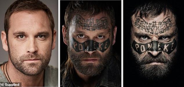 ¡La dedicación de Tatt!  La ex estrella de Home and Away, Jake Ryan, de 37 años, (en la foto) ha revelado que se vistió con el traje completo y fue de compras para prepararse para su papel como el líder de la banda neozelandesa Damage en la próxima película Savage.