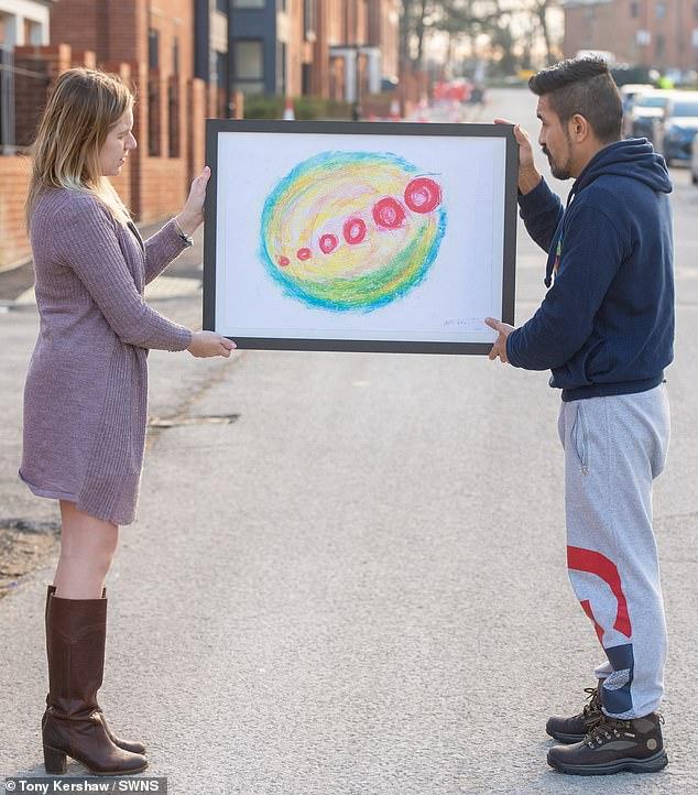 Delia (izquierda) y Santiago (derecha), quienes compraron una pintura en Ecuador en 2001 por $ 1 y descubrieron que valía £ 10,000.