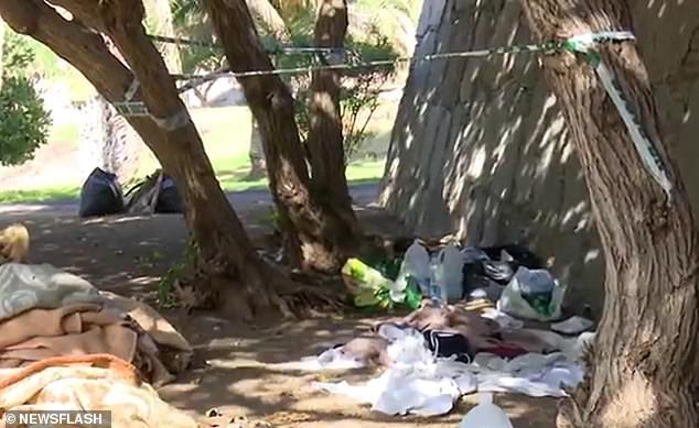 La presunta escena del crimen en la isla de Gran Canaria donde se sospecha que cuatro hombres han violado en grupo a una mujer de 36 años