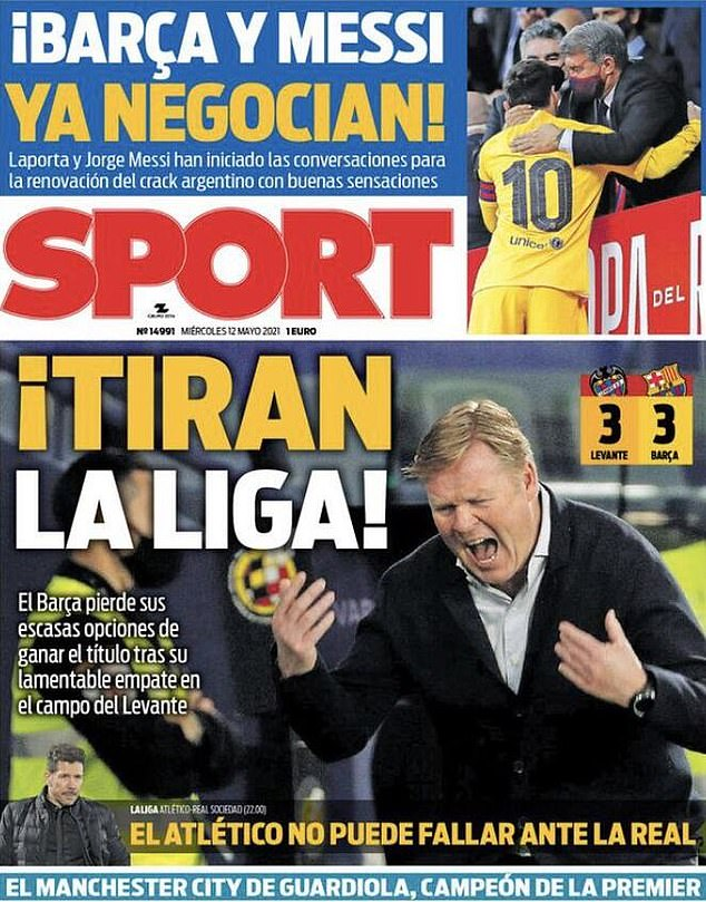 Las portadas de España del miércoles estuvieron dominadas por el sorteo sorpresa de Barcelona en el Levante