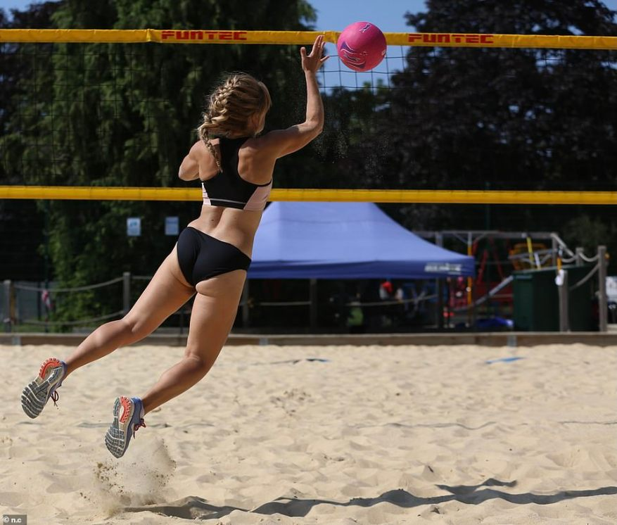 For a sport that involves ducking and diving on sand, usually in warm weather, are bikini bottoms simply a more practical and comfortable option than shorts? FEMAIL reporter Hayley Richardson decided to put it to the test