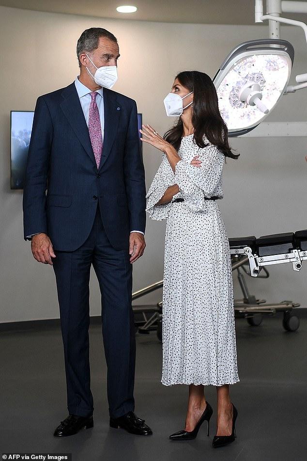 El Rey Felipe VI y la Reina Letizia de España (en la foto) asistieron hoy a la inauguración del Centro de Cáncer de Páncreas Botton-Champalimaud en la Fundación Champalimaud en Lisboa