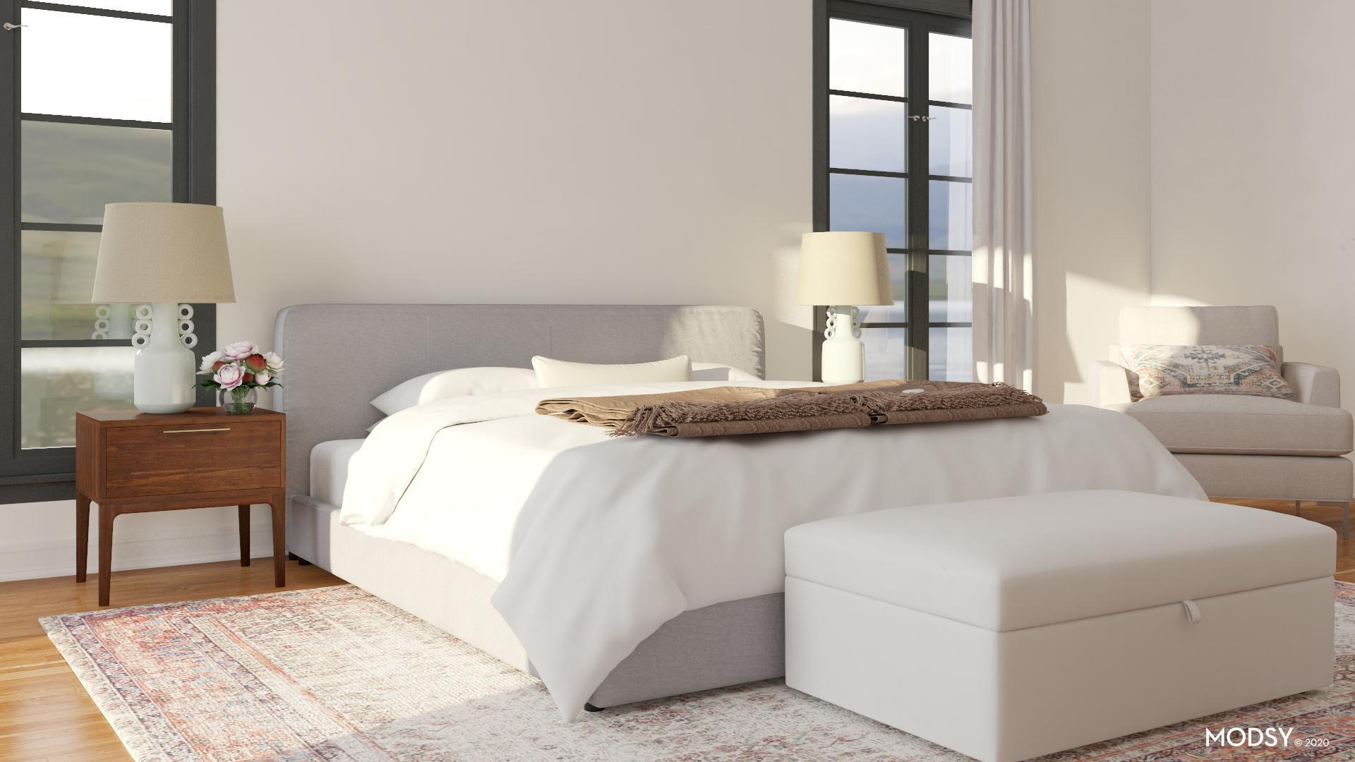 Neutral Minimalist: Get The Look | Contemporary-Style ... on Neutral Minimalist Bedroom Ideas  id=91085