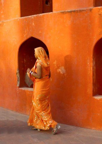 Woman departing, India