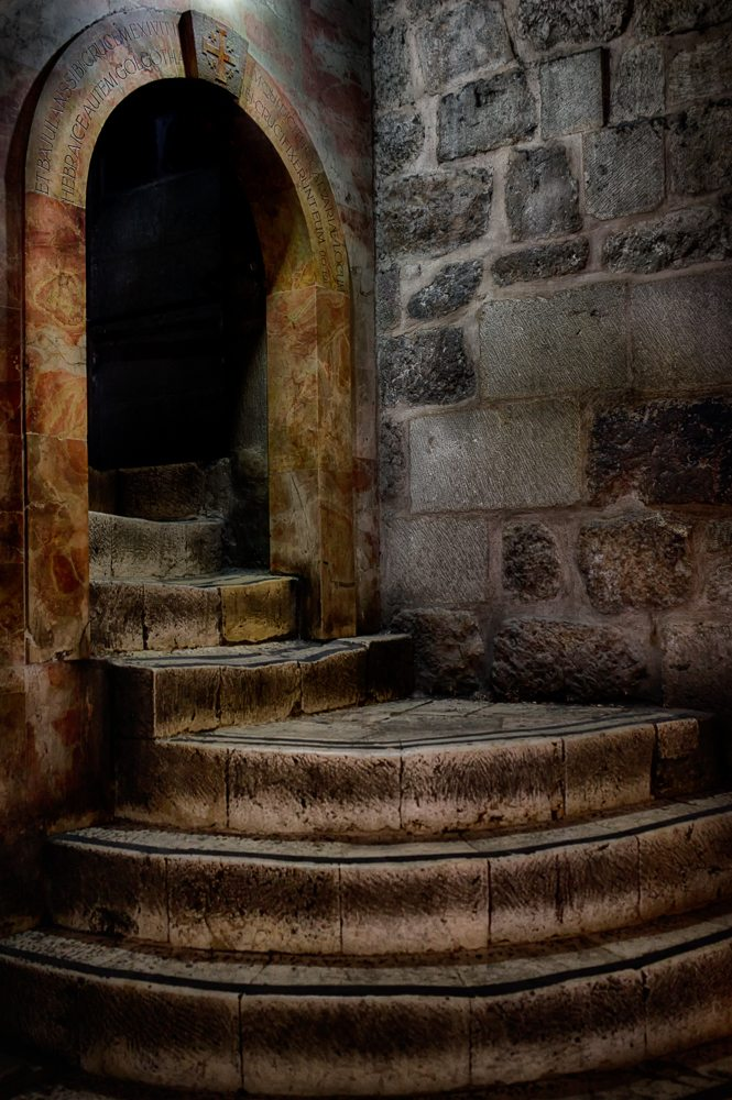 Stairway to the Chapel of Calvary