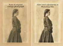 Original scan, and after basic tonal adjustments