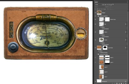 Steampunk Radio, Photoshop Composite
