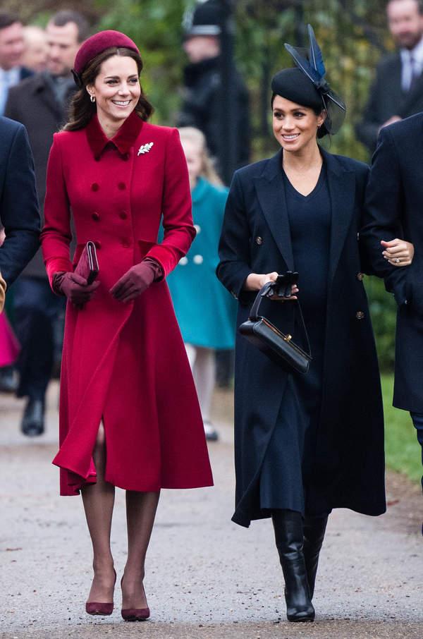 Meghan Markle, Kate Middleton, 25/12/2018, King's-Lynn, England
