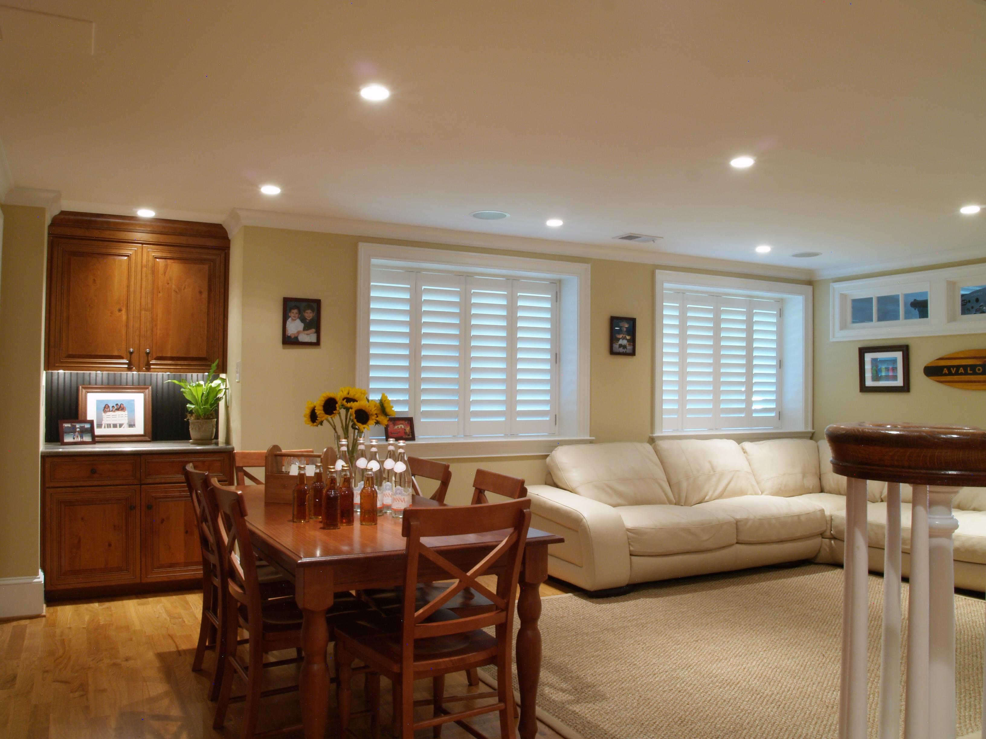 finished basement recessed lighting