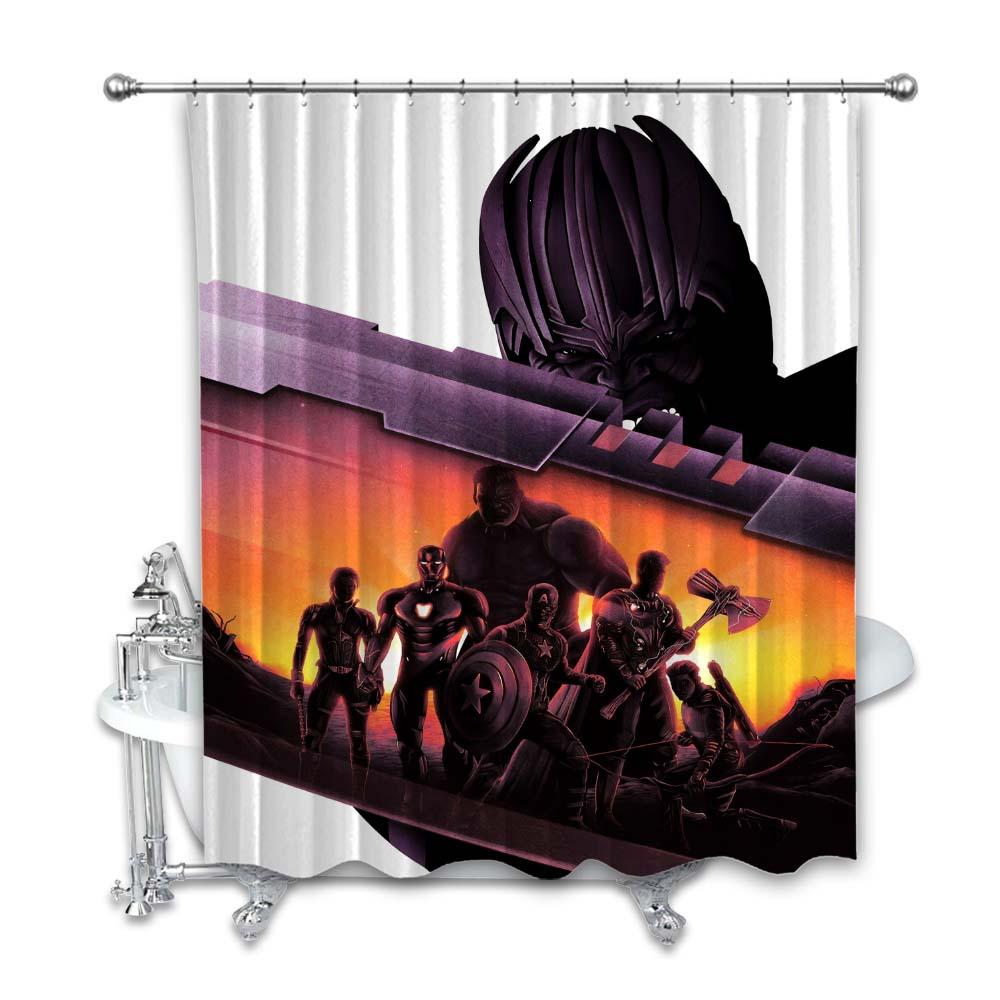 marvels avengers endgame shower curtain