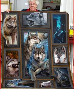 3d Huge Wolf Blanket