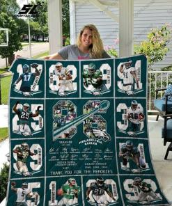 86 Years Philadelphia Eagles Thank You For Memories Member Signatures Quilt Blanket