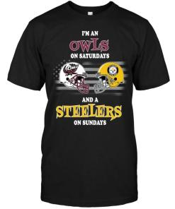 I'm Temple Owls On Saturdays And Pittsburgh Steelers On Sundays Shirt