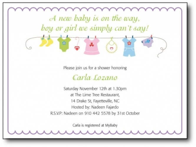 Office Baby Shower Invitation Samples