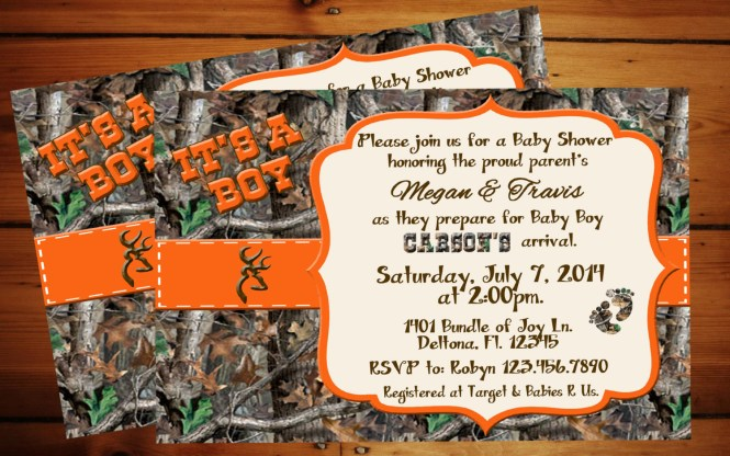 Blue Camouflage Baby Shower Invitations Showers Design