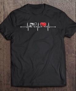 Cow Heartbeat Gift Farmer Farming Lover Funny Ekg Cow Cute Shirt