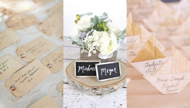 Unique Wedding Escort & Place Card Ideas