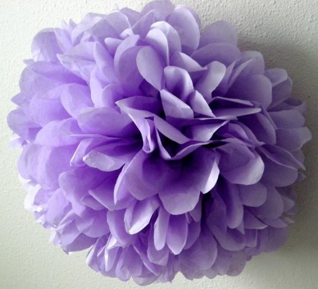 Lavender 1 Tissue Paper Pom Wedding Decorations