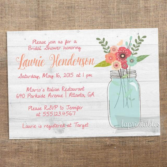 Rustic Chic Bridal Shower Invitations