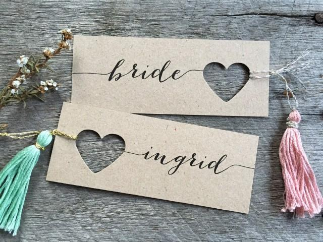 Wedding Place Cards Heart Name Tags Heart Tags