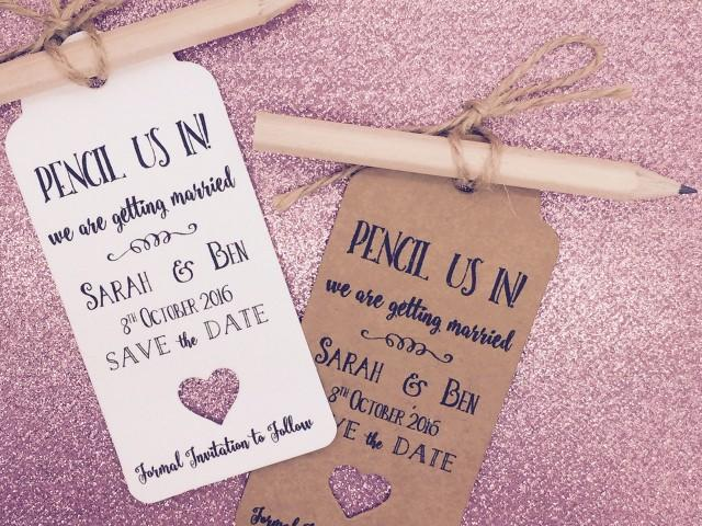 Save Date Cards Pencil Us