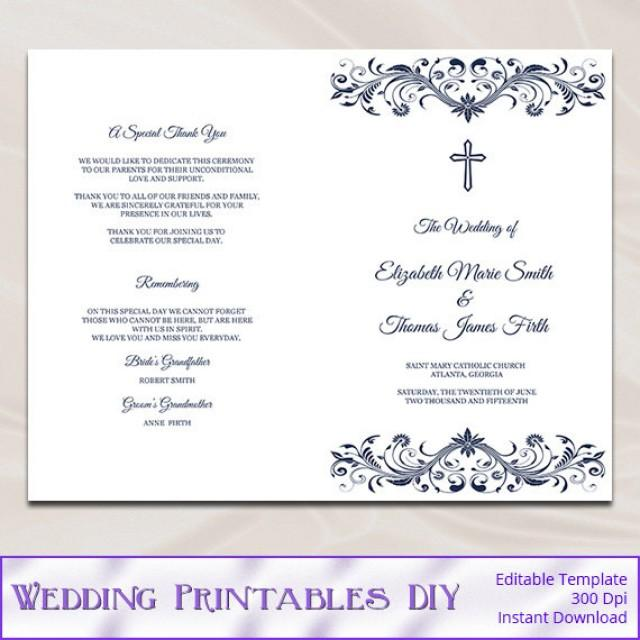 Best Diy Wedding Programs Template Images  Styles  Ideas