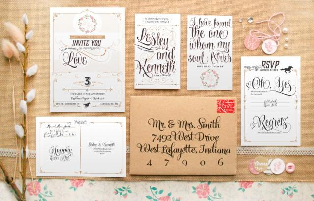 Rustic Romantic Wedding Invitations