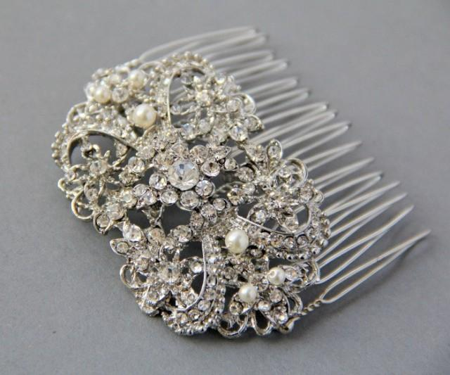 Crystals Hair Comb Wedding Vintage Style Bridal Hair Comb