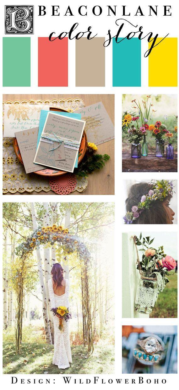 Bohemian Chic Wedding Invitation