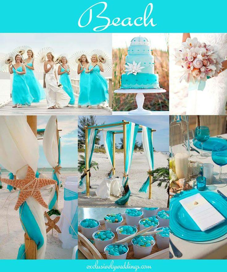 tiffany blue and brown centerpieces