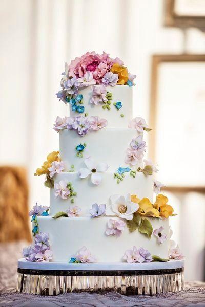 Wedding Cupcakes Spring Flowers Wedding Cake 2069907
