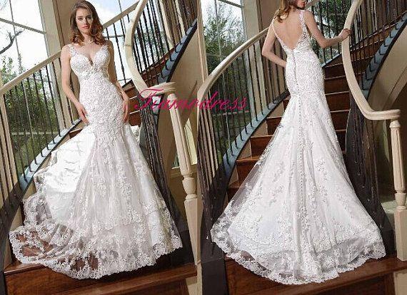 Wedding Dress Pure Handmade Bridal Ball Gown Lace Wedding