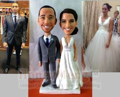Cheap Custom Wedding Cake Toppers Head To Toe Personalized Made From     Cheap Custom Wedding Cake Toppers Head To Toe Personalized Made From Photo  Unique Cake Topper Looks Like You  1437