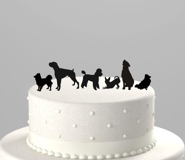 Add A Pet   Dog Cake Topper Silhouette  Acrylic Cake Topper  CTpd     Add A Pet   Dog Cake Topper Silhouette  Acrylic Cake Topper  CTpd