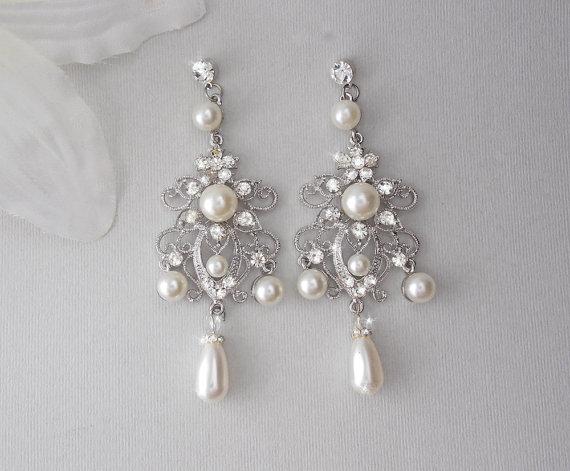 Chandelier Pearl Earrings Chandeliers Design – Wedding Earrings Chandelier