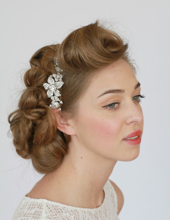 bridal headband crystal headband rhinestone headband bridal hair accessories vintage wedding hair piece hair wrap wedding hair piece