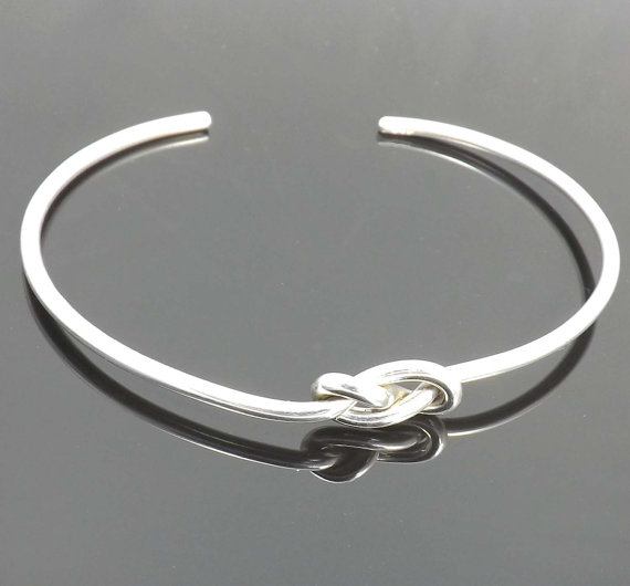Knot Bracelet Bangle Cuff Bracelet Sterling Silver