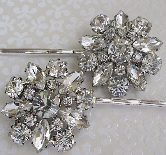 wedding hair pins crystal bobby pins bridal accessories silver hair clips wedding hair piece rhinestone hair pins bridesmaids gifts