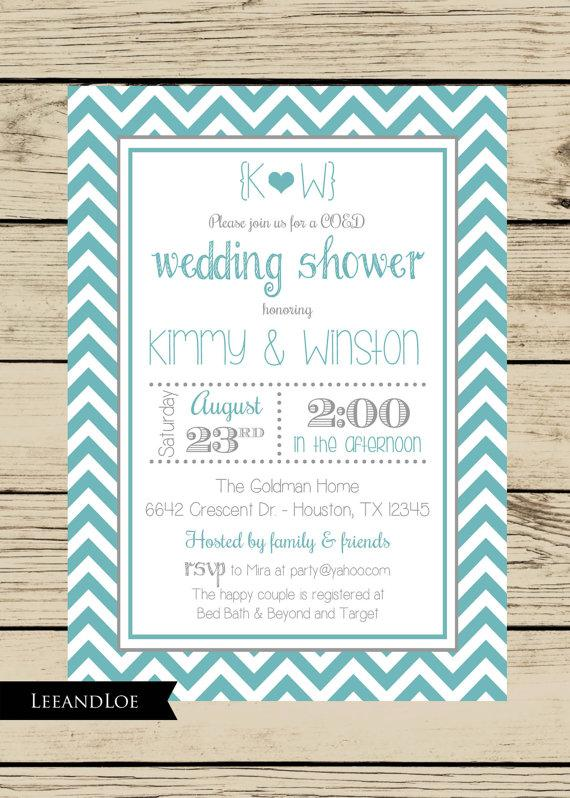 Printable Wine Theme Couples Coed Wedding Shower Invitation I Design You Print