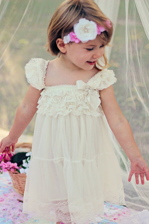 f6768004006 Fairy Wedding Lace Ivory Flower Girl Dress 2234326 Weddbook