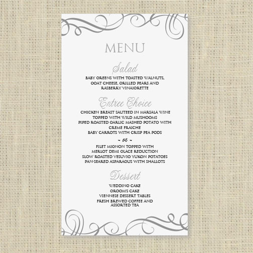 Menu Template Word Free Download Champlain College