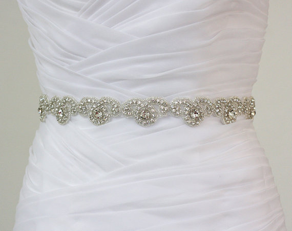 Rhinestone Bridal Belt, Wedding